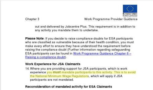 cached copy of DWP document: you must mandate participants