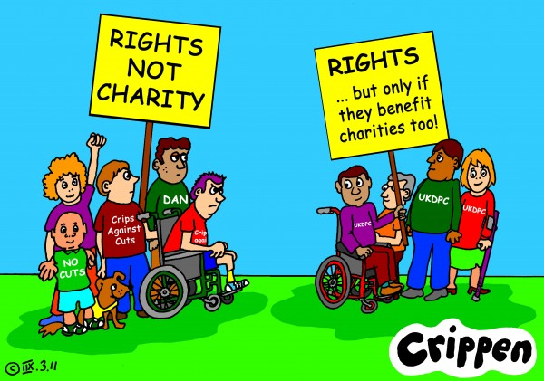 Image result for Charity Profiting on disability