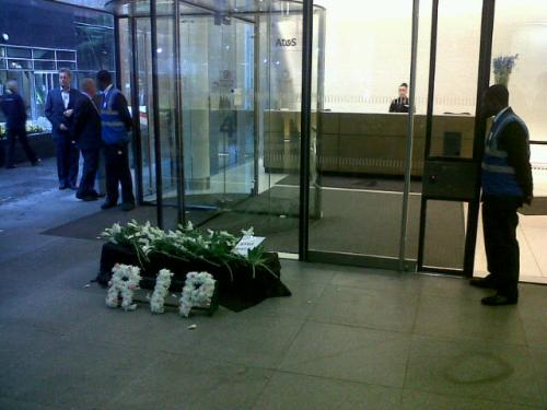 ATOS Paralympic protest