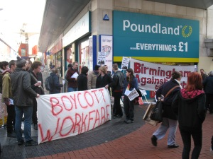 Poundland have seen dozens of protests outside their stores over their use of unpaid workers.