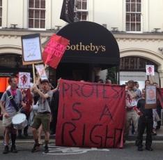 sothebys-protest